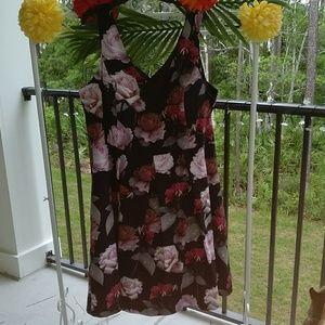 City Chic black floral party dress